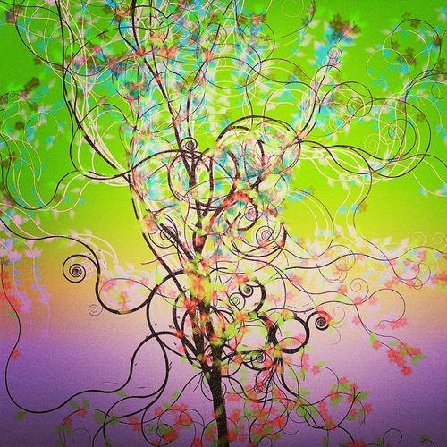 Lune Tree Trees TreePorn ArtWork Digital Art