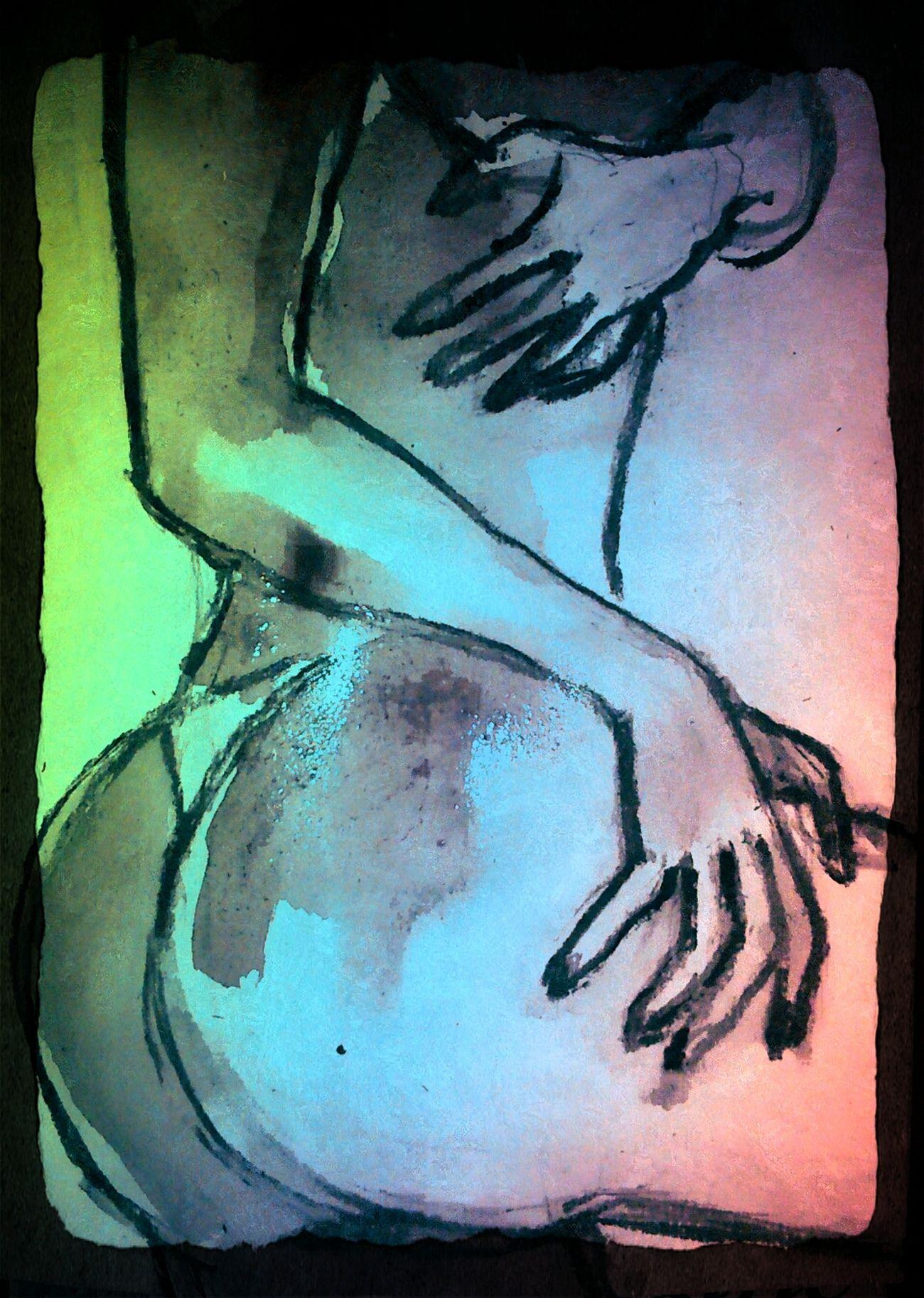 Textured  Watercolor Painting Human Body Part Beautiful Woman Beauty Art And Craft Drawing - Activity Drawing - Art Product Creativity Human Representation Multi Colored
