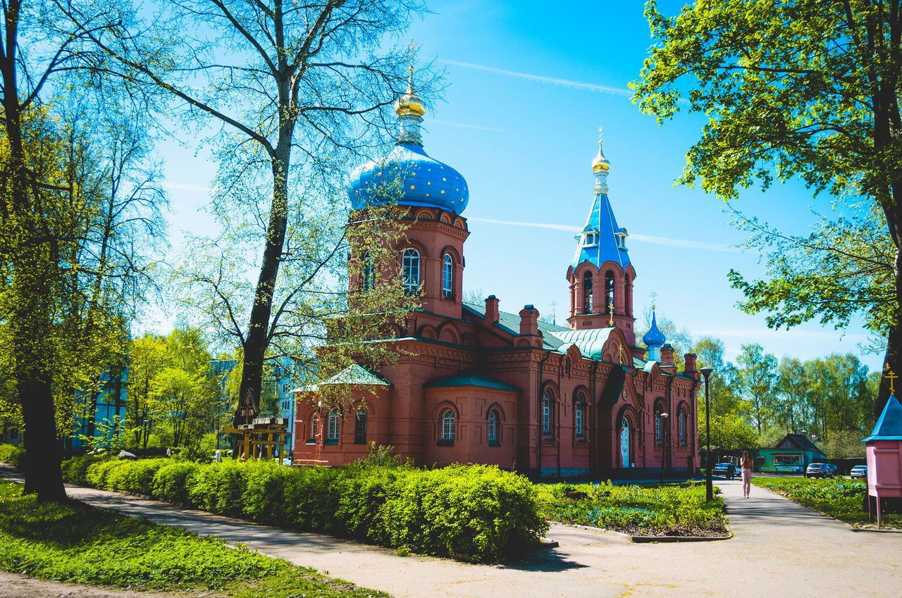 Architecture Beauty In Nature Blue Built Structure Church City Clear Sky Day Outdoors Pskov Russia