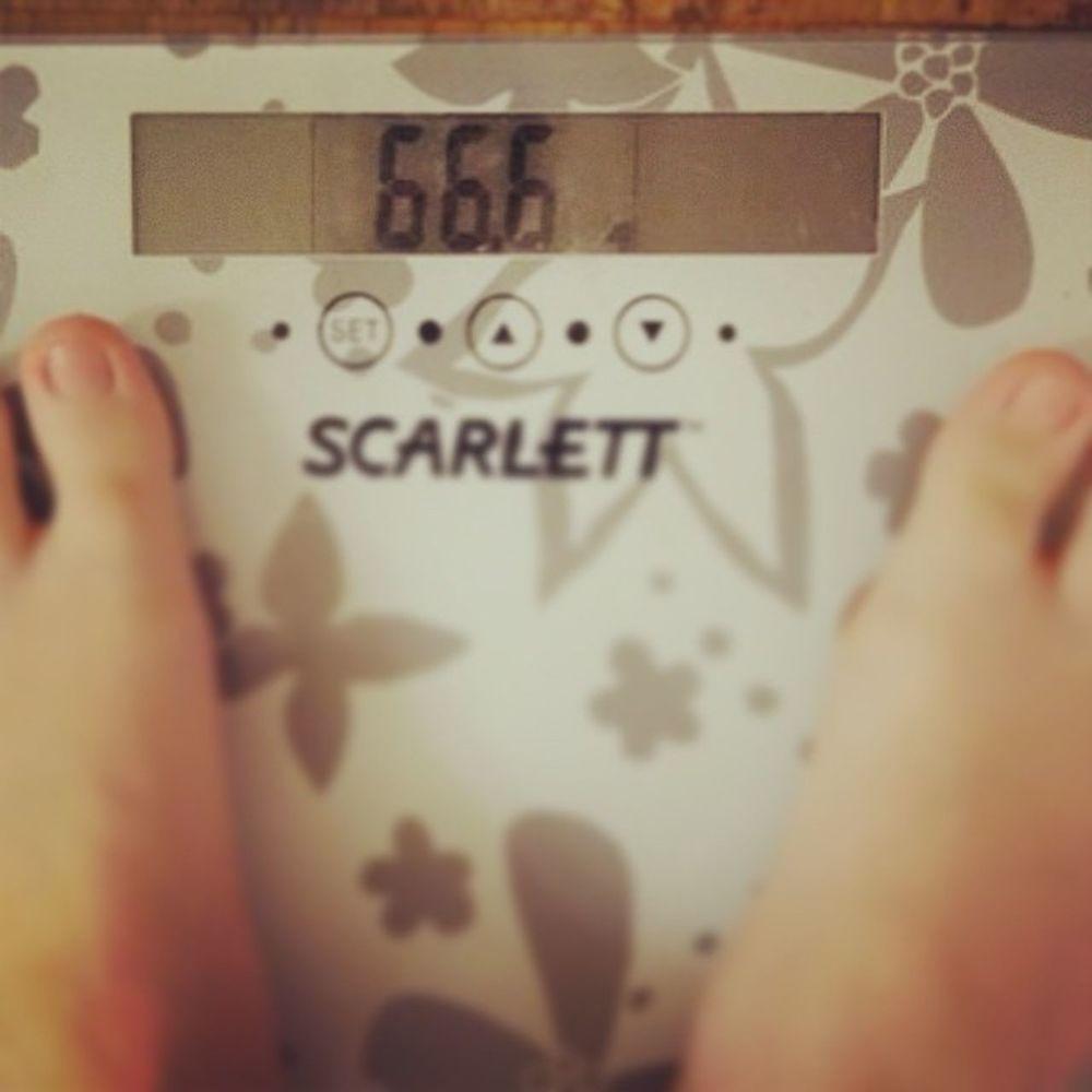 похудела больше, чем на 30кг изначально весила 97кг вес похудение 666 весы диета