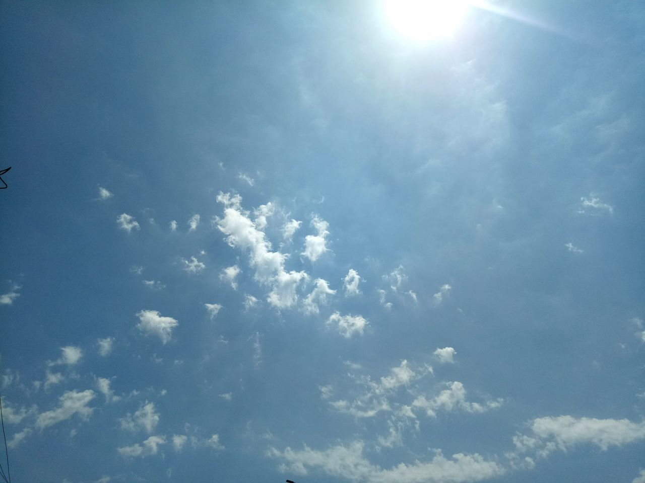 Looking at the sky. Sky Blue Nature No People Outdoors Day Cloud - Sky Sun Sunlight Shine Tranquility