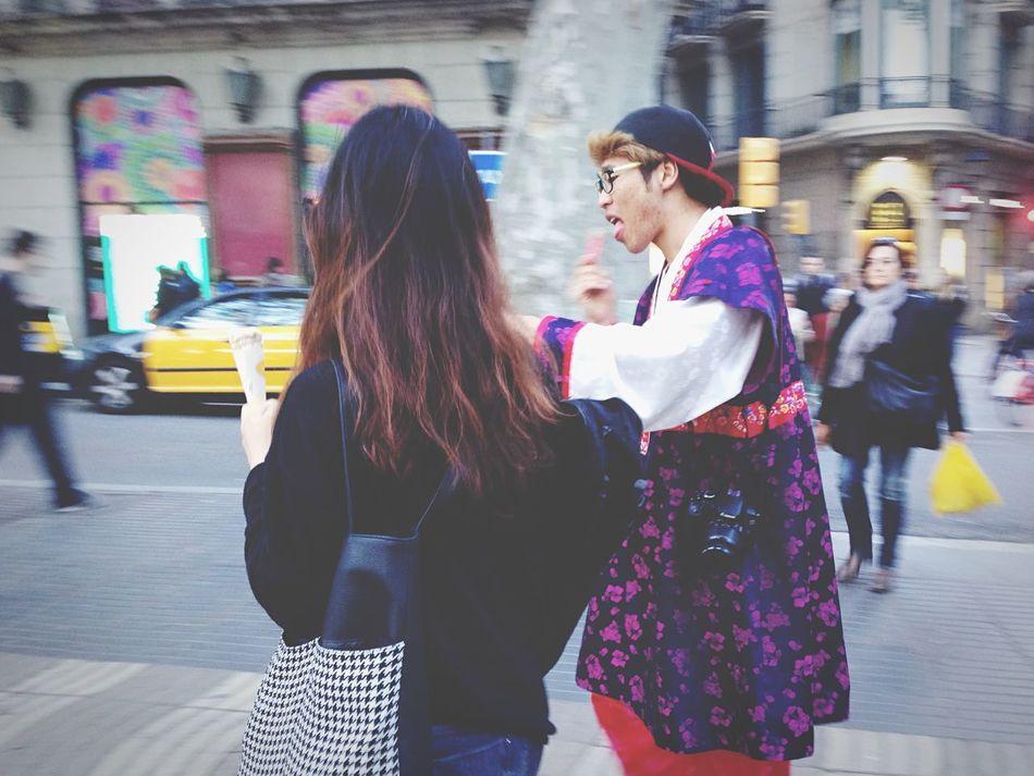 Streetphotography Streetcolour Tourists Barcelona