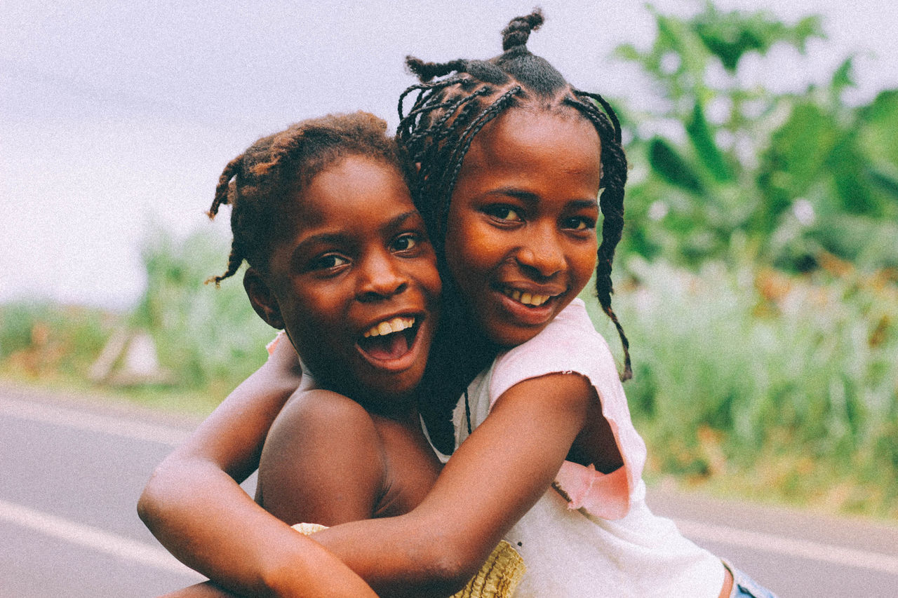 Amazing Souls. Africa African Cheerful Child Childhood Family Females Fun Happiness Looking At Camera Love People Portrait Smiling Togetherness Two People Young Women