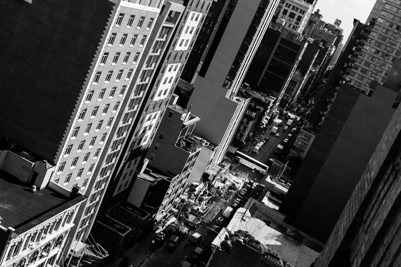 EyeEm Office NYC Window View | thanks Jenna & Flo, it was great meeting you - Happy Halloween Building Exterior Architecture Built Structure City Outdoors Day No People New York New York City Manhattan Canon Blackandwhite Streetphotography Urban Skyline Architecture City Life Cityscape Aerial View Skyscraper Black And White