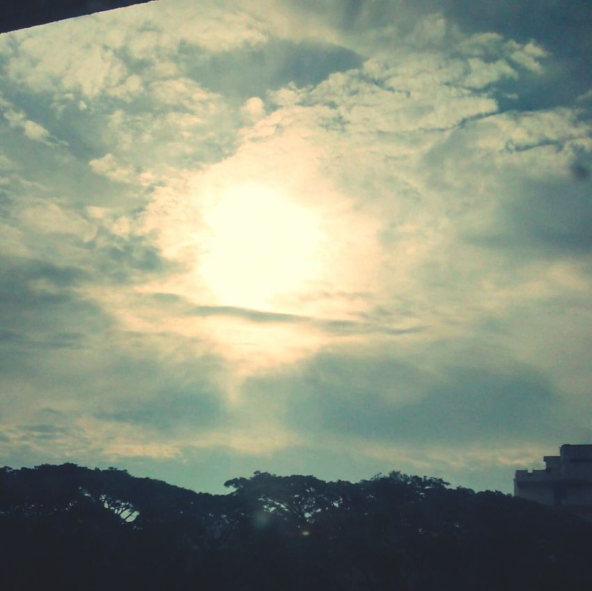 How's The Weather Today? Sunrise Sunshine Sky And Clouds My Best Photo 2014 Negative Space