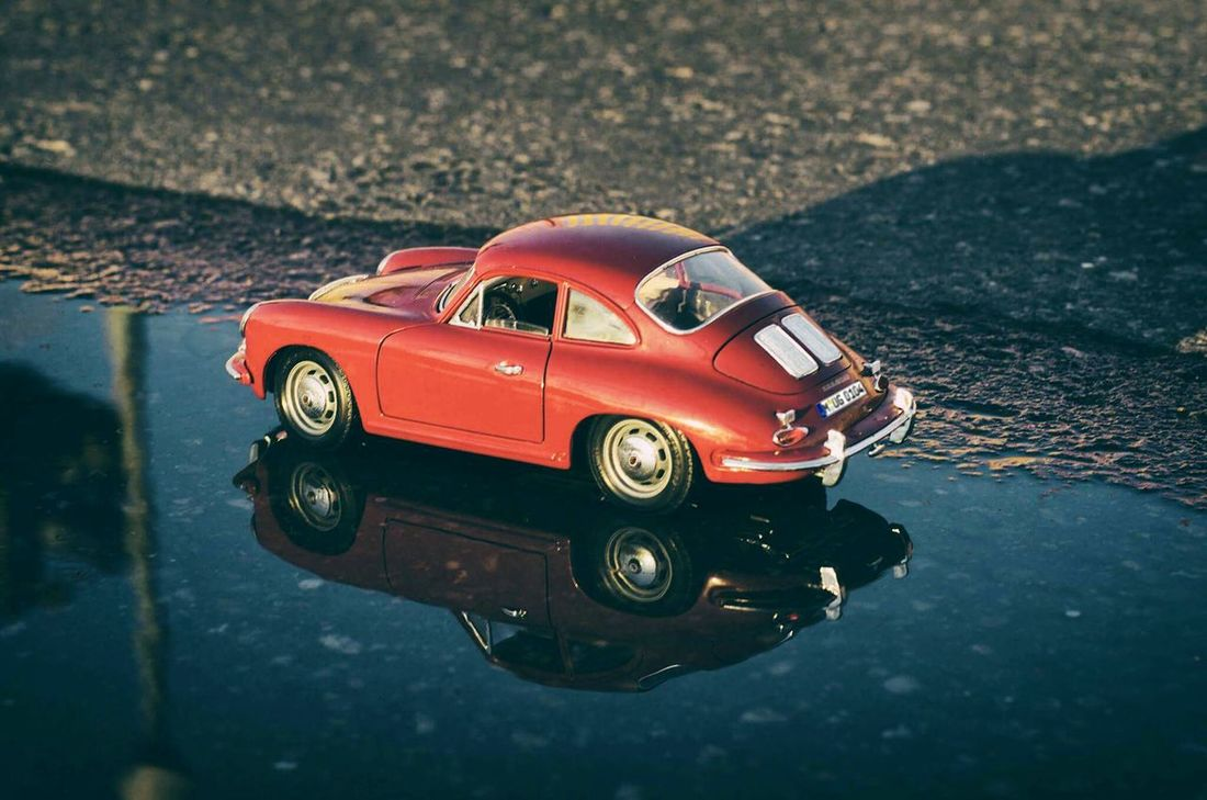 Toy car! Old-fashioned Car Retro Styled High Angle View No People Day Outdoors Nature Close-up