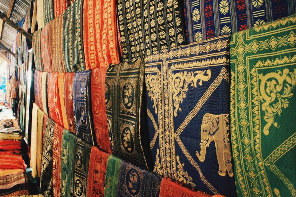 Beautifully Organized Clothes Brocade No People Mountainous Tradition Culture Beautiful Home Shop