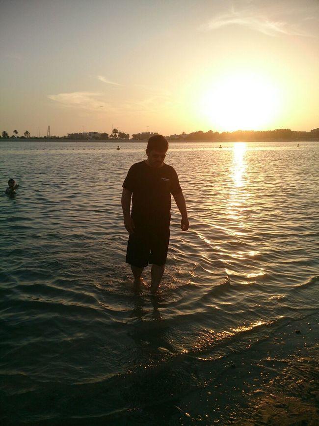 شاطئ الممزر مع الغروب