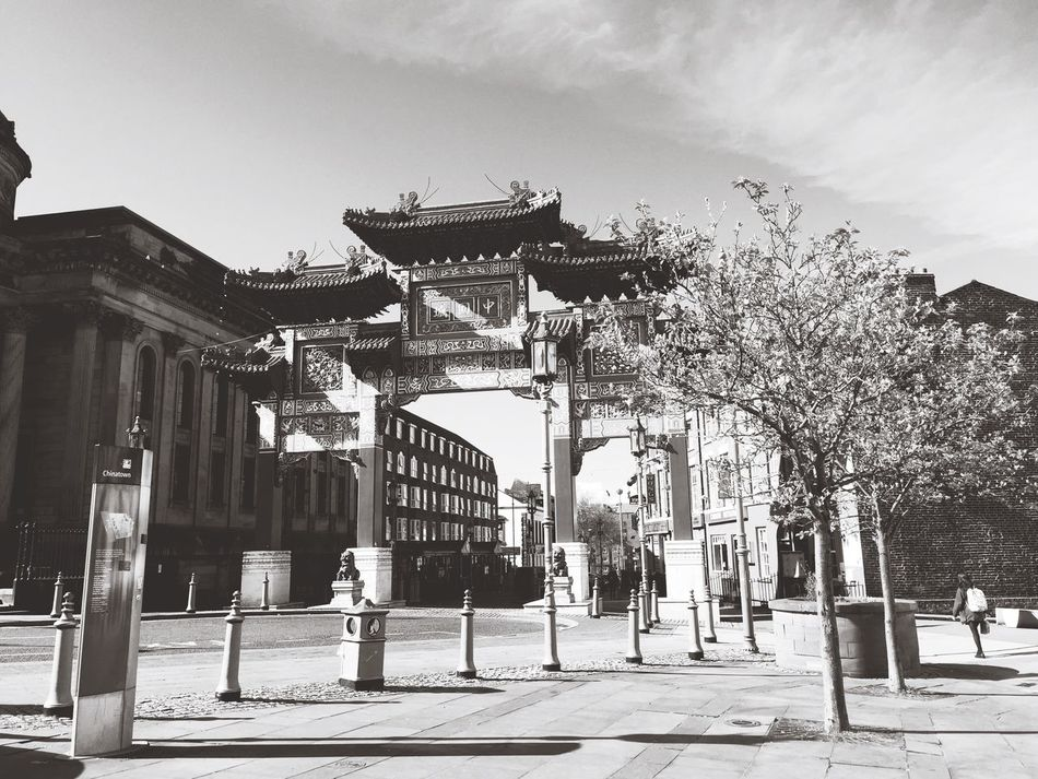 Architecture Building Exterior Built Structure Tree Outdoors Day Travel Destinations Architectural Column Real People Sky City Large Group Of People People China Chinatown Chinese Arch Architecture Blackandwhite Black & White Blackandwhite Photography Melancholic Landscapes Tranquility EyeEm Best Shots Art TCPM Art Is Everywhere Break The Mold