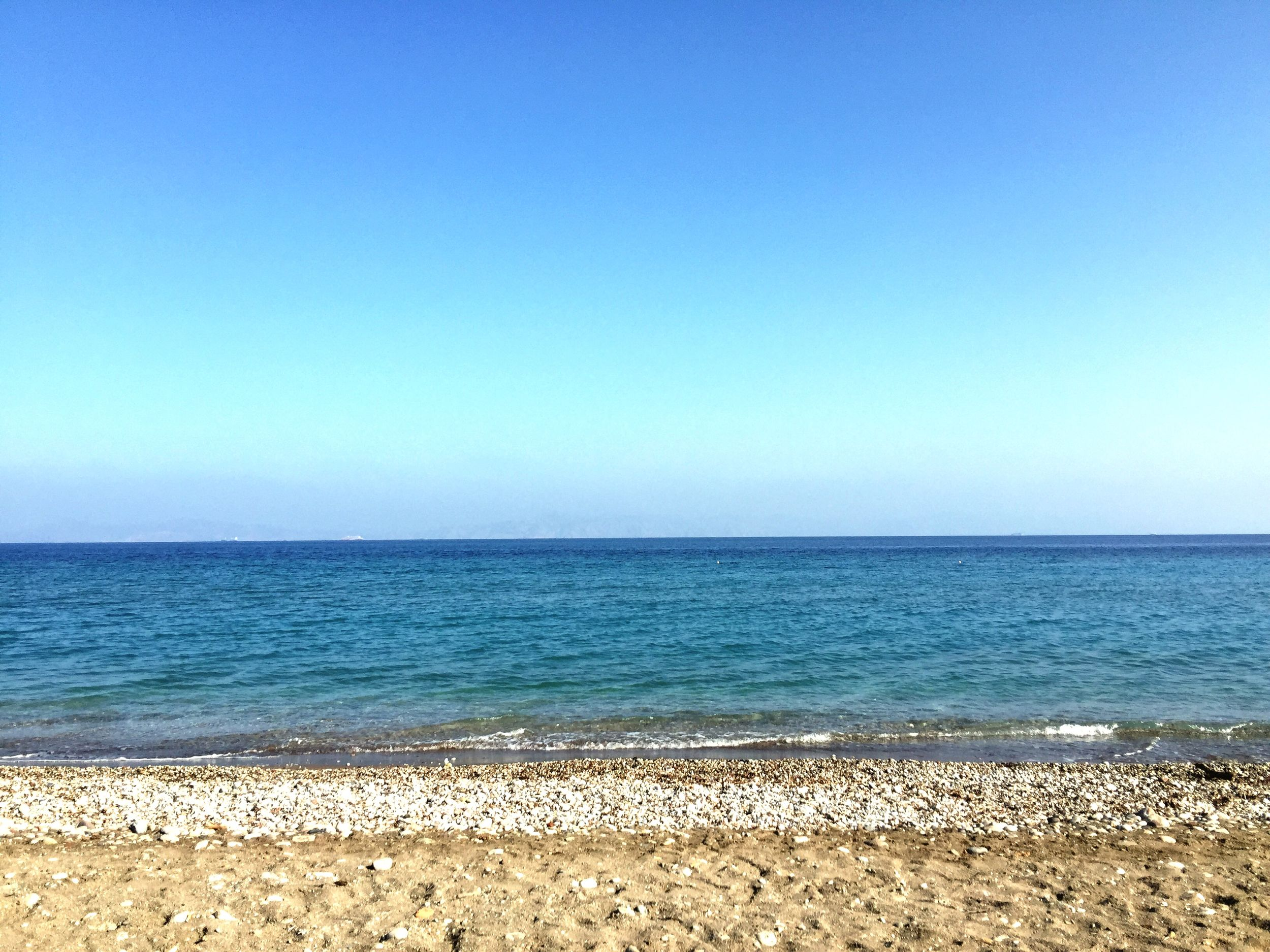 Looking out from Ialyssos beach to Turkey over the Aegean Sea 😎 Sea Enjoying The Sun Rodos Greece Aegean Sea Türkiye