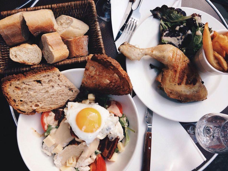 Beautiful stock photos of breakfast, Bread, Breakfast, Bun, Directly Above