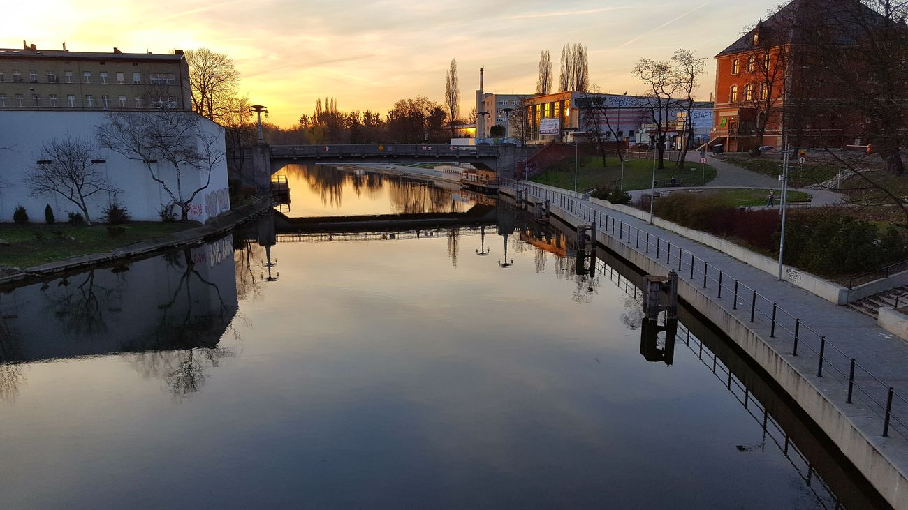 Water Reflection Architecture River Bridge Poland Bydgoszcz