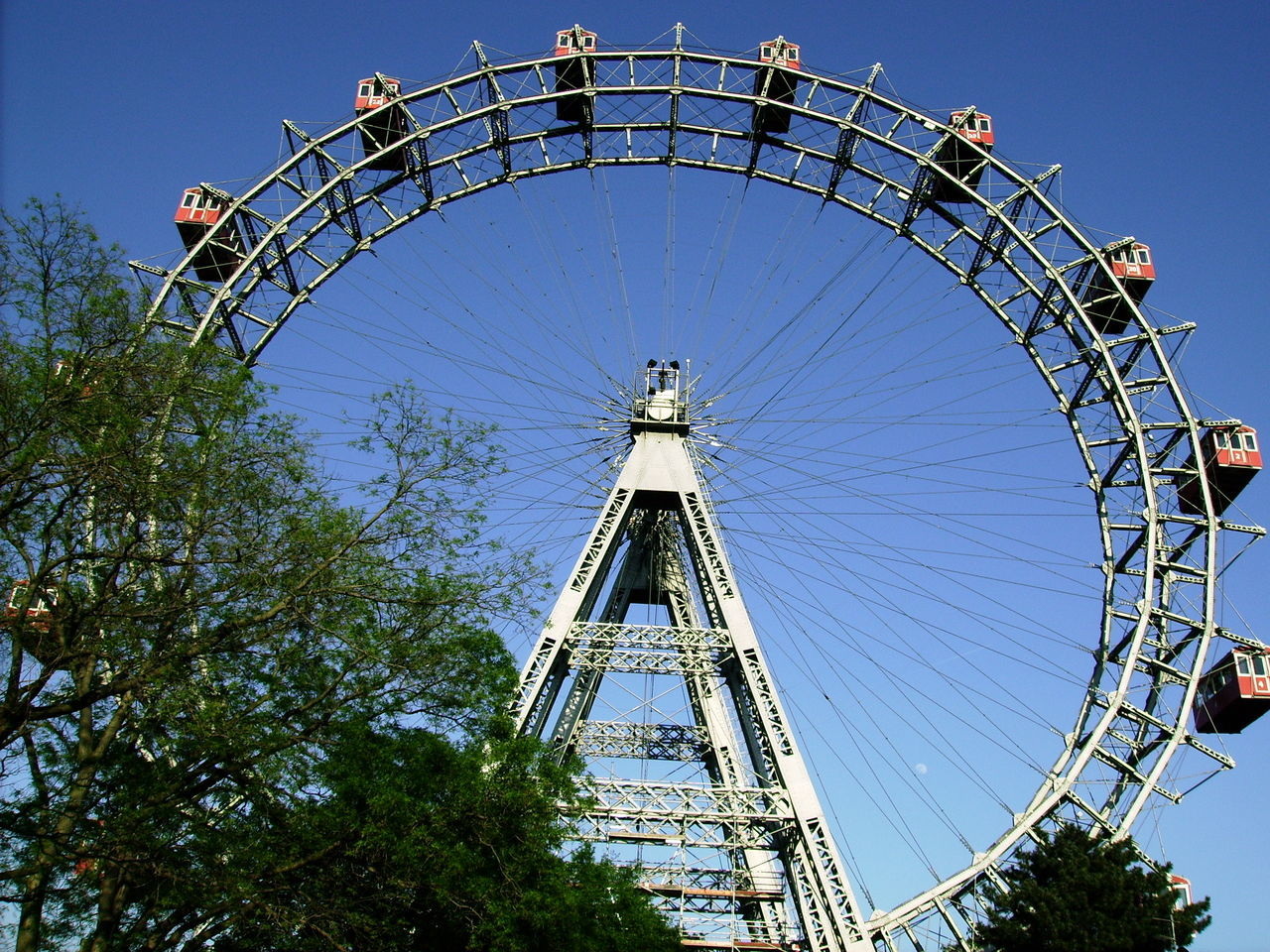 Amusement Park Amusement Park Ride Arts Culture And Entertainment Blue Day Ferris Wheel Large Build Large Group Of People Leisure Activity Outdoors People Riesenrad Riesenrad Wien Sky Traveling Carnival