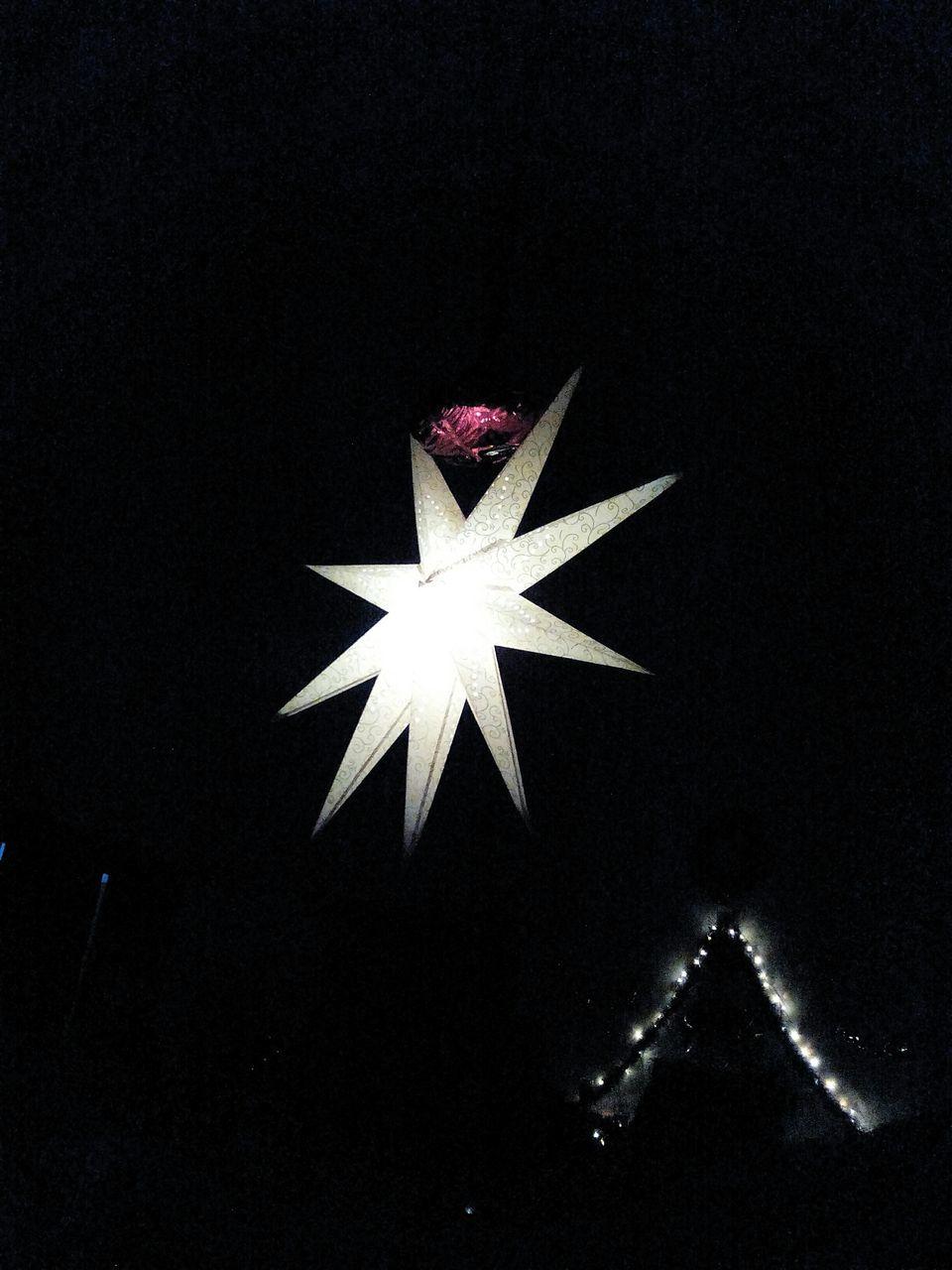 christmas, christmas decoration, celebration, indoors, black background, night, no people, close-up, studio shot, christmas ornament