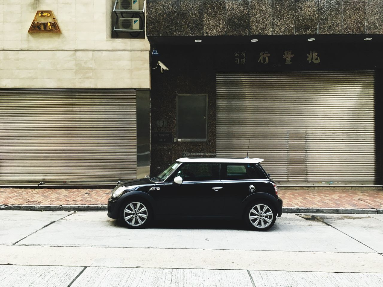 Shutter Building Exterior Built Structure Architecture Outdoors No People Car Day Mini Mini Cooper Car The City Light