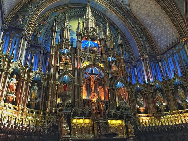 Feel The Journey Notte Dame Basilica Montréal VividHDR