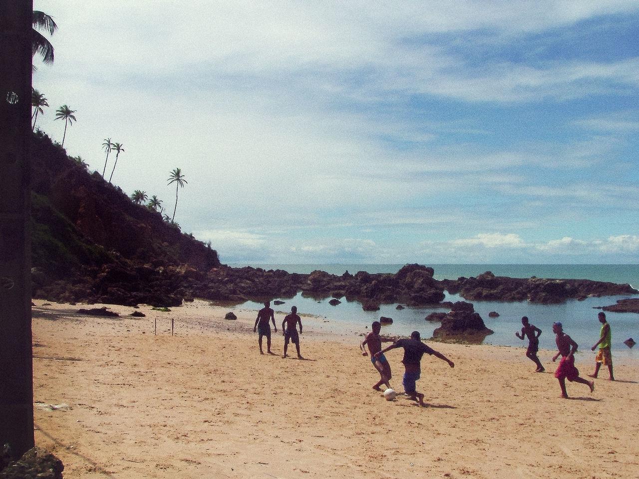 Futebol Beach Black People Brasil