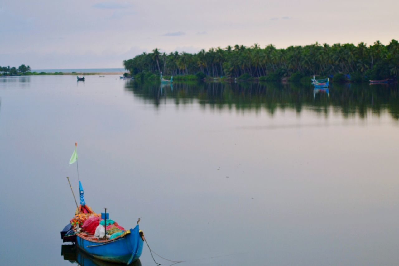 Boats River Nature ... Colorful Periyambalam Beach My Best Photo 2015
