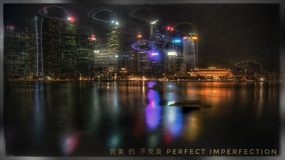 Perfect Imperfection Singapore Cityscape Night Clouds