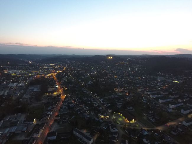 Bergneustadt Cityscape City Building Exterior Architecture High Angle View Built Structure Aerial View No People Outdoors Sunset Sky Nature Day