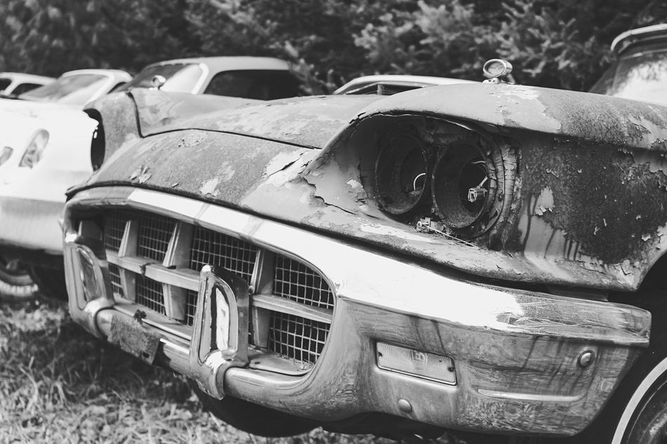 """This bird needs her thunder back. """"Lost Metal Souls"""" part10 Old Car Junkie EyeEm Gallery Getting Inspired Black And White Bnw_junkie Monochrome EyeEm Best Shots - Black + White Eye4photography  Ladyphotographerofthemonth Lost Metal Souls"""