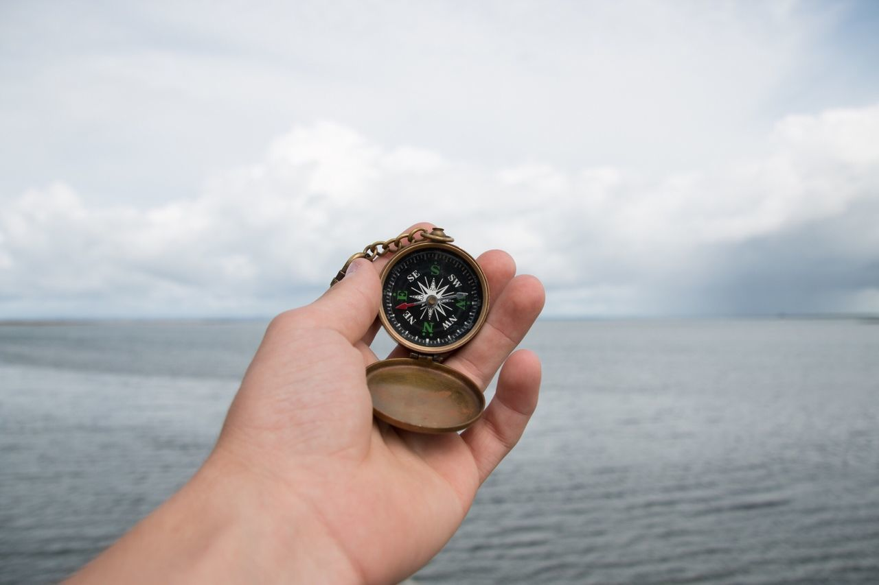 Beautiful stock photos of outdoors, Adventure, Cloud, Compass, Cropped