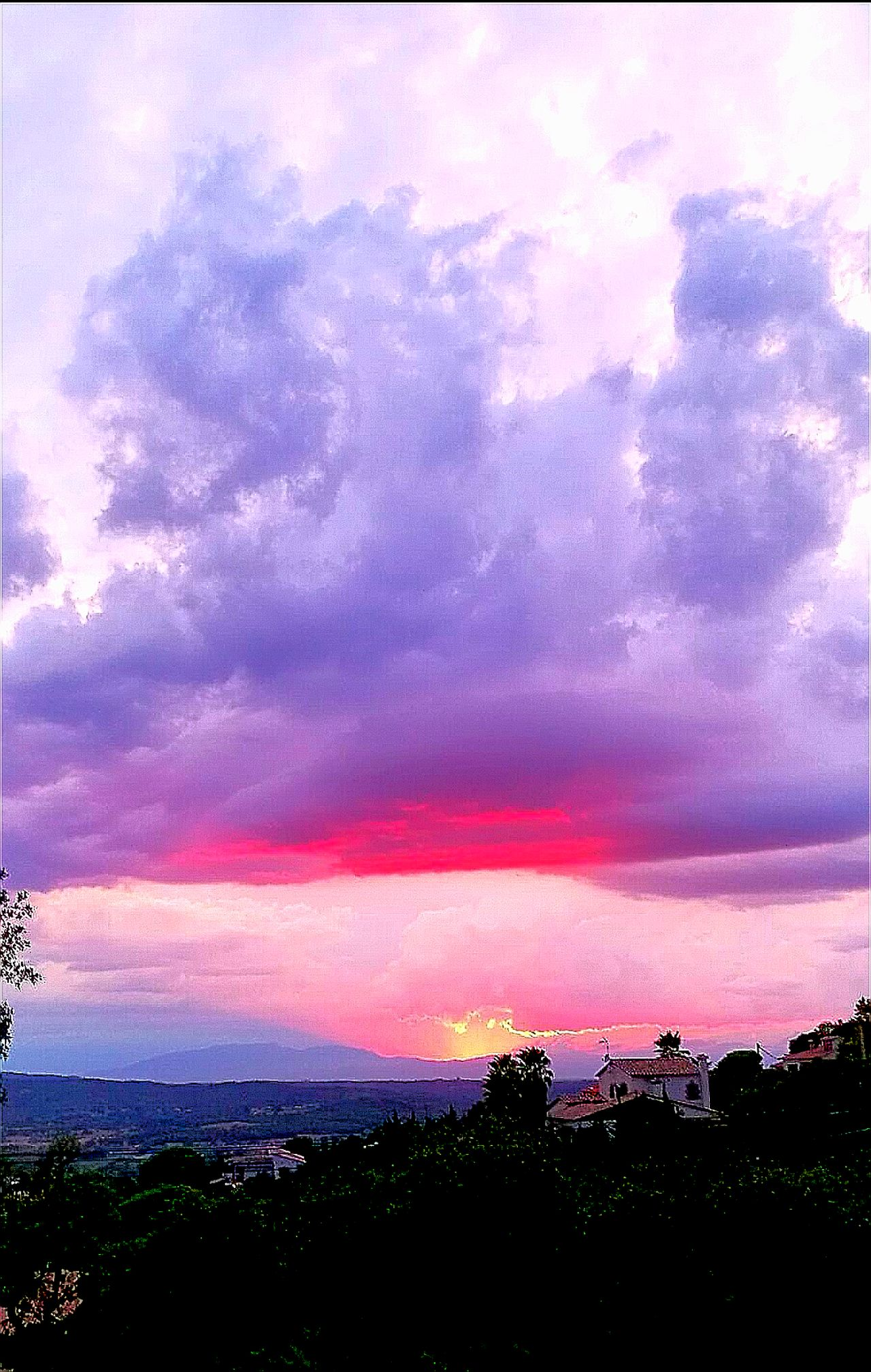 Spain🇪🇸 Horizon Pink Violet Home Purple Sunset Sky Pink Color Beauty In Nature Romantic Sky Night Nature Outdoors Tranquility Nature