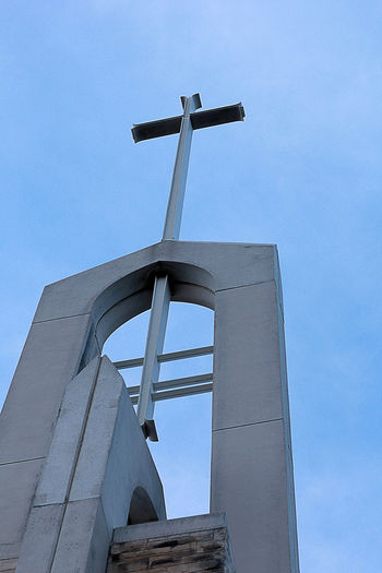 Architecture Building Church Cross Steeple Structure Tall - High Tower