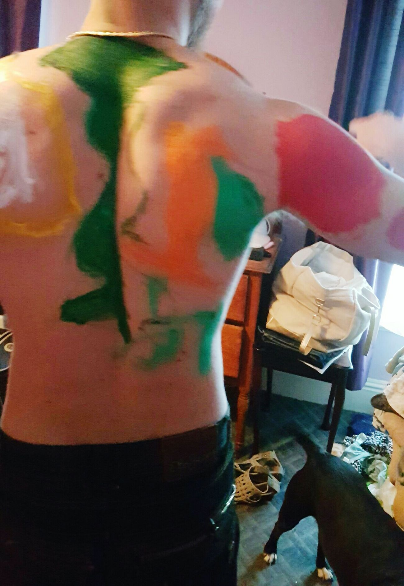 When you let you neices paint you Paint ThatsMe Funny Beautiful Canvas Bodyart Bodypainting Bodypaint Check This Out Thats Me