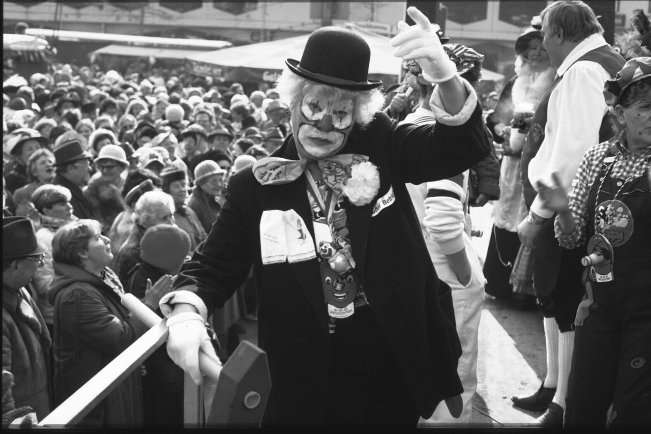 Carnival at Cologne. Crowd Fan - Enthusiast Event Real People People Carnival Carneval Karneval Rhine Germany Clown Fiesta Monochrome Monochrome Photography Blackandwhite Black And White Black & White