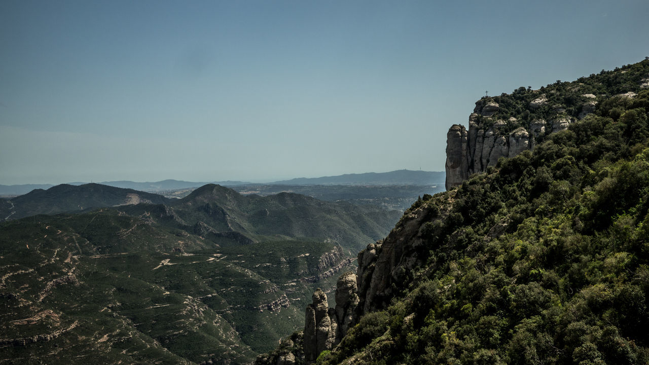 Mountains of Montserrat Barcelona Beauty In Nature Catalunya Church Cloister Cross Cultures Day Europe Landscape Montserrat Mountain Nature Nature No People Outdoors Religion Sky SPAIN Travel Travel Destinations