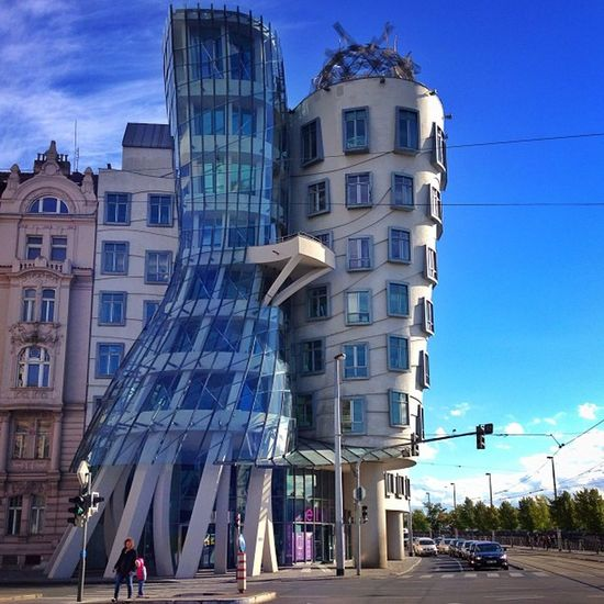 Love this #dancing house in Prague?? #dancinghouse #allshots_ #capture_today Dancing Allshots_ Capture_today Dancinghouse