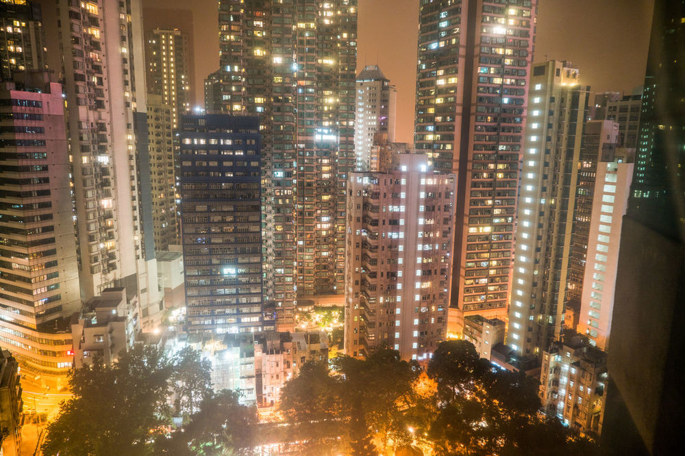 Architecture Cities At Night City Cityscape Downtown High Resolution Hong Kong Lights Modern Skyline Apartment Building City View  Generic Architecture Night Skyscraper Travel Destinations Urban