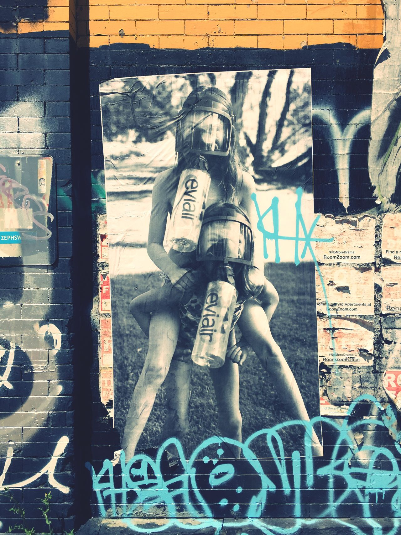 Streetart #street #streetphotography #tagsforlikes #sprayart #urban #urbanart #urbanwalls #wall #wallporn #graffitiigers #stencilart #art #graffiti #instagraffiti #instagood #artwork #mural #graffitiporn #photooftheday #stencil #streetartistry #photograp Williamsburg Evianair