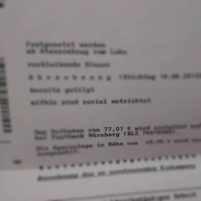 Ich bekomme 77,01 € vom Finanzamt wieder! \o/ Win Erstersteuerbescheid Steuerbescheid2012 Finanzamt FinanzamtHeidelberg