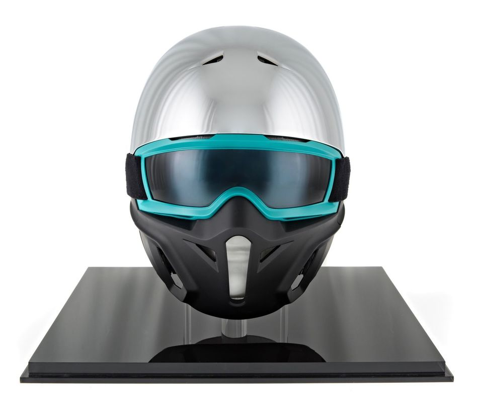Futuristic Technology Cyborg White Background Human Body Part Innovation Human Eye Headwear Snowboard Helmet Helmet