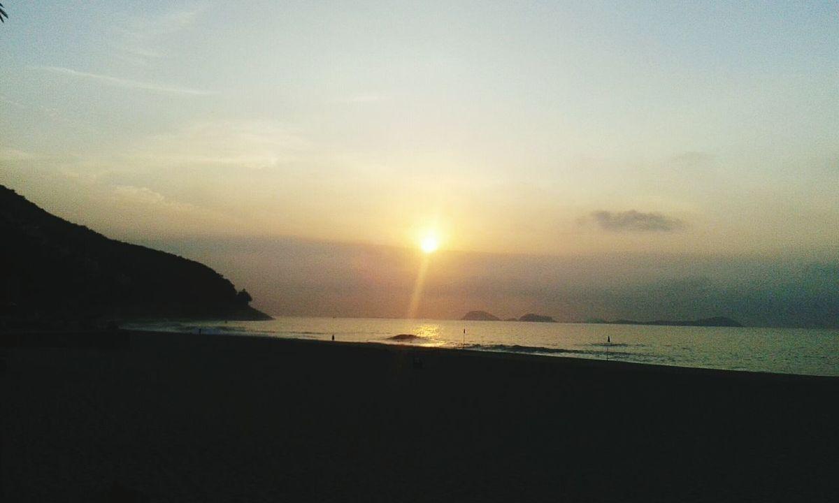 Nascer do sol, maravilhoso!