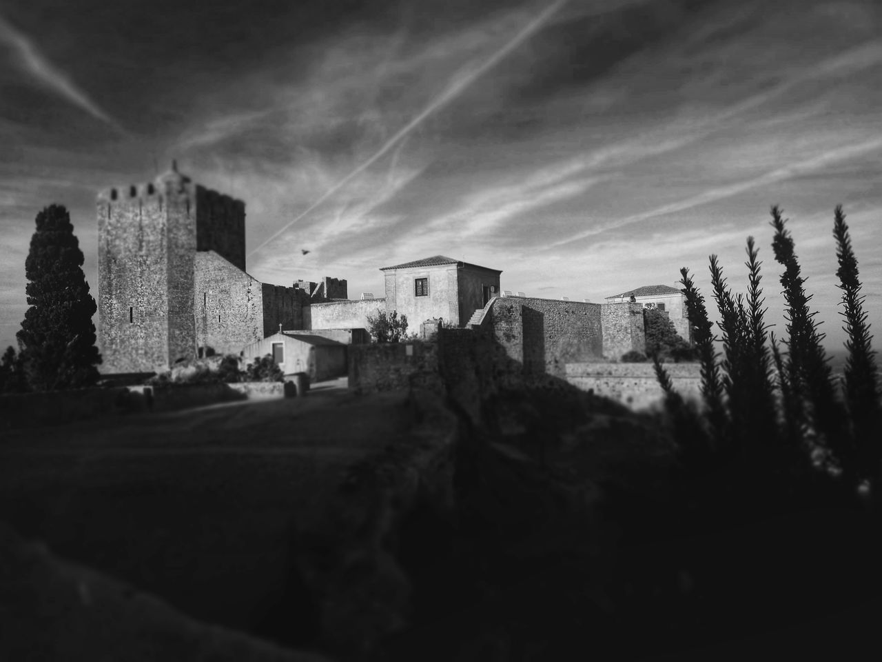 Architecture Built Structure Building Exterior Castle Monochrome Photography TakeoverContrast Tranquil Scene Architecture Tower The Past Quiet Places Sky Outdoors Cloud - Sky Day Building Story No People High Section Fort Cloud Clouds And Sky Cloudscape Peaceful Tranquility Walking Around