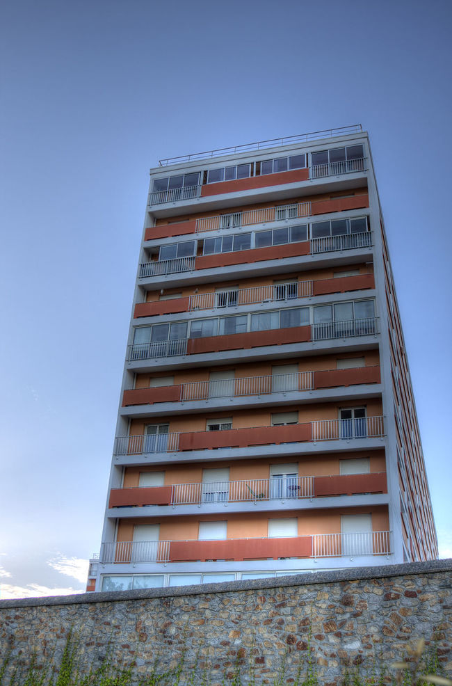 Architectural Feature Architecture Blue Building Exterior Built Structure HDR Lorient Low Angle View Man Made Structure No People Outdoors Repetition Sky Surface Level
