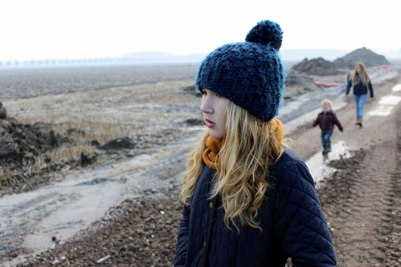 Wintertime Winter Almere Bouwplaats Autumn Construction Site Daughters Day Field Flevoland Focus On Foreground Foggy Landscape Lifestyles Long Hair Nature Oosterwold Person Real People Rear View Sand Young Adult Young Women Youth Kids Winter