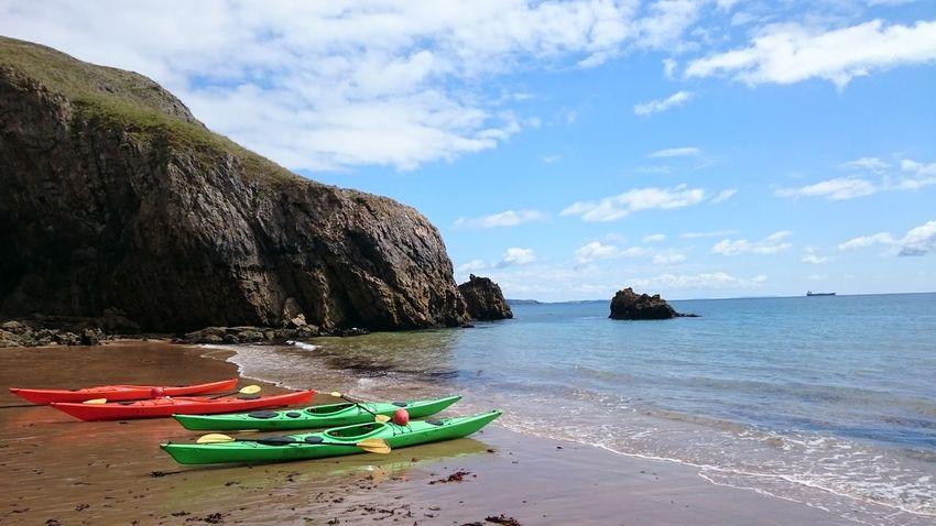 Sea Beach Aquatic Sport Outdoors No People Wales UK