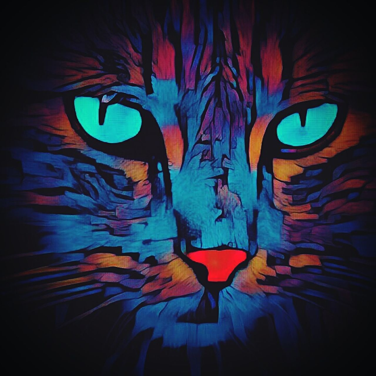 Cat Cat Lovers Cat♡ Lovecats❤️ Pictureoftheday Felinelover Feline Miauuu 😺 Multi Colored Lovephotos Lovedit Edited Click Click 📷📷📷 Lovephotography  Popart Editedbyme Photooftheday Photography Nature Art Arte Loveforphotography