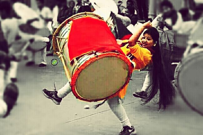 Girl Power Musician Desistyle Indianism Mobileclickpic Nexus5 Edit Photography In Motion Party Hard Shivjanthi Nasikdhol