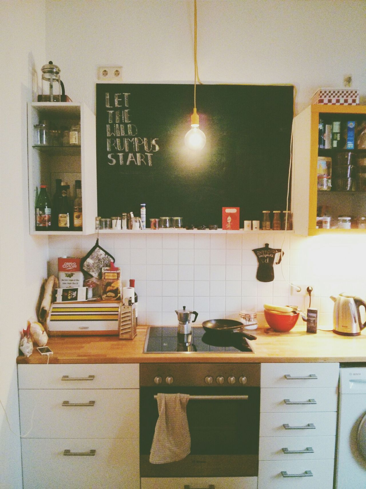 Let the wild rumpus start. At My Friends House Kitchen Vscocam
