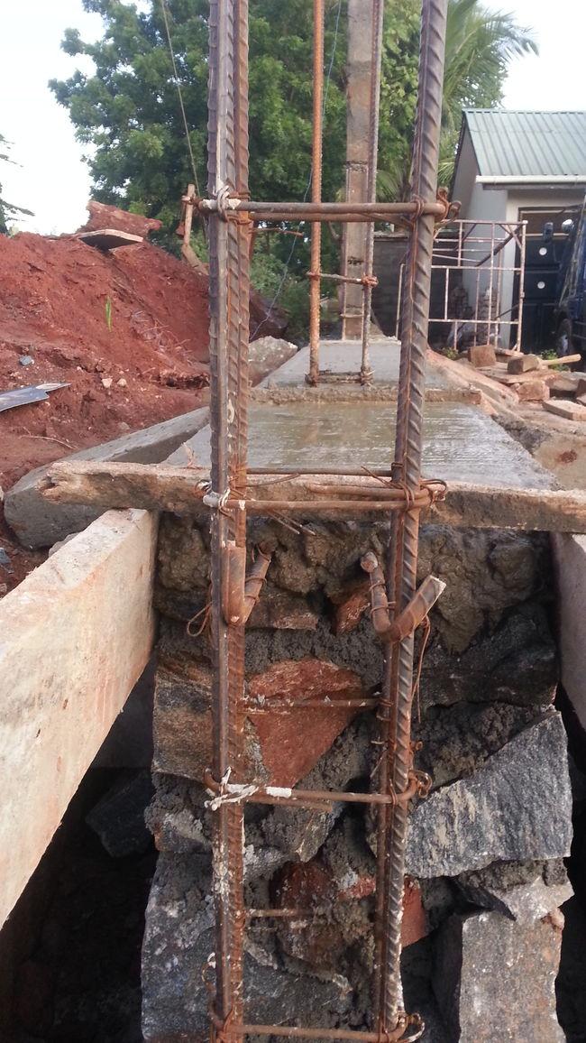 Stone mason foundation That's Me Boundary Fence