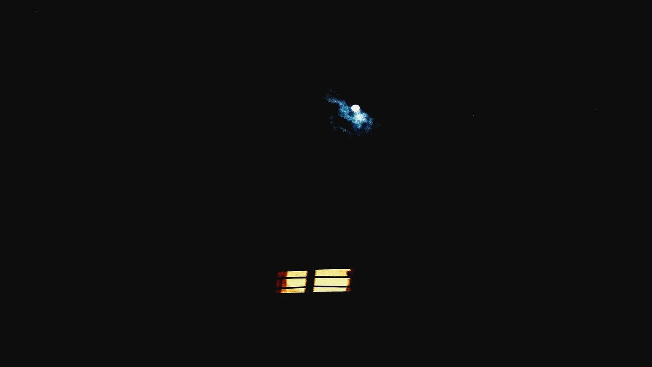 Best night ever 🎑 Moonlight Illuminated Window Dark Night Darkness No People First Eyeem Photo