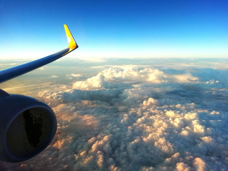 Pegasus Airlines Boeing 737 overflying Batumi en route to Istanbul. Travel From An Airplane Window Catching A Flight