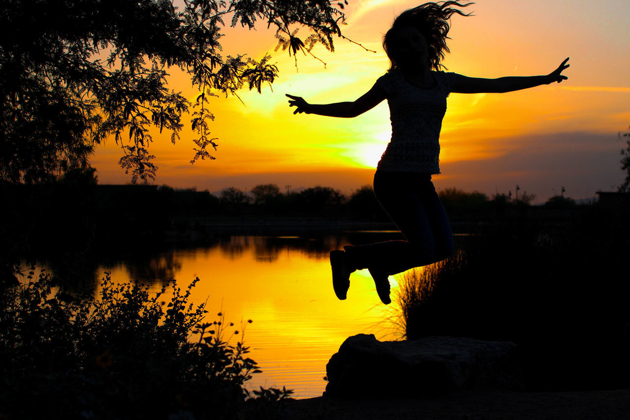 Beautiful stock photos of sunset,  Beauty In Nature,  Carefree,  Freedom,  Full Length