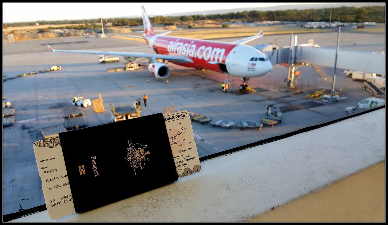 Airasia Airplane Airport Airport Runway Passport Perth Airport Time To Travel Travel