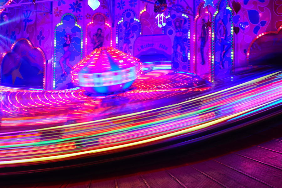 Night City Life Scenics Outdoors Multi Colored Backgrounds No People Spinning Wheel Cannstatterwasen Man Made Object Streetphotography CannstatterVolksfest Illuminated Cannstatt Long Exposure Colorful Geometric Shape Festival Volksfest Volksfest♥ Vibrant Color Carusell Carrusel